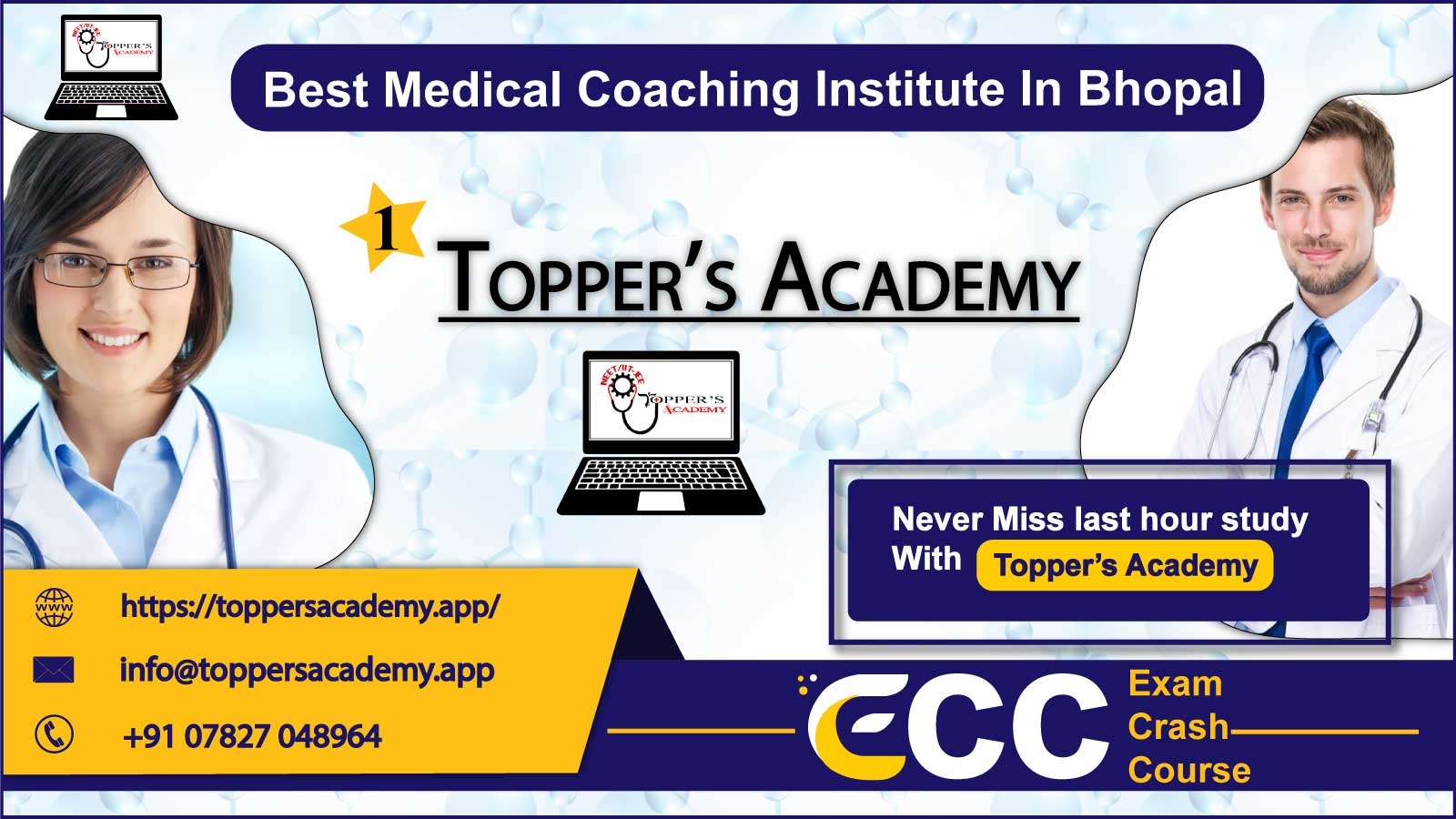 Toppers Academy NEET Coaching In Bhopal