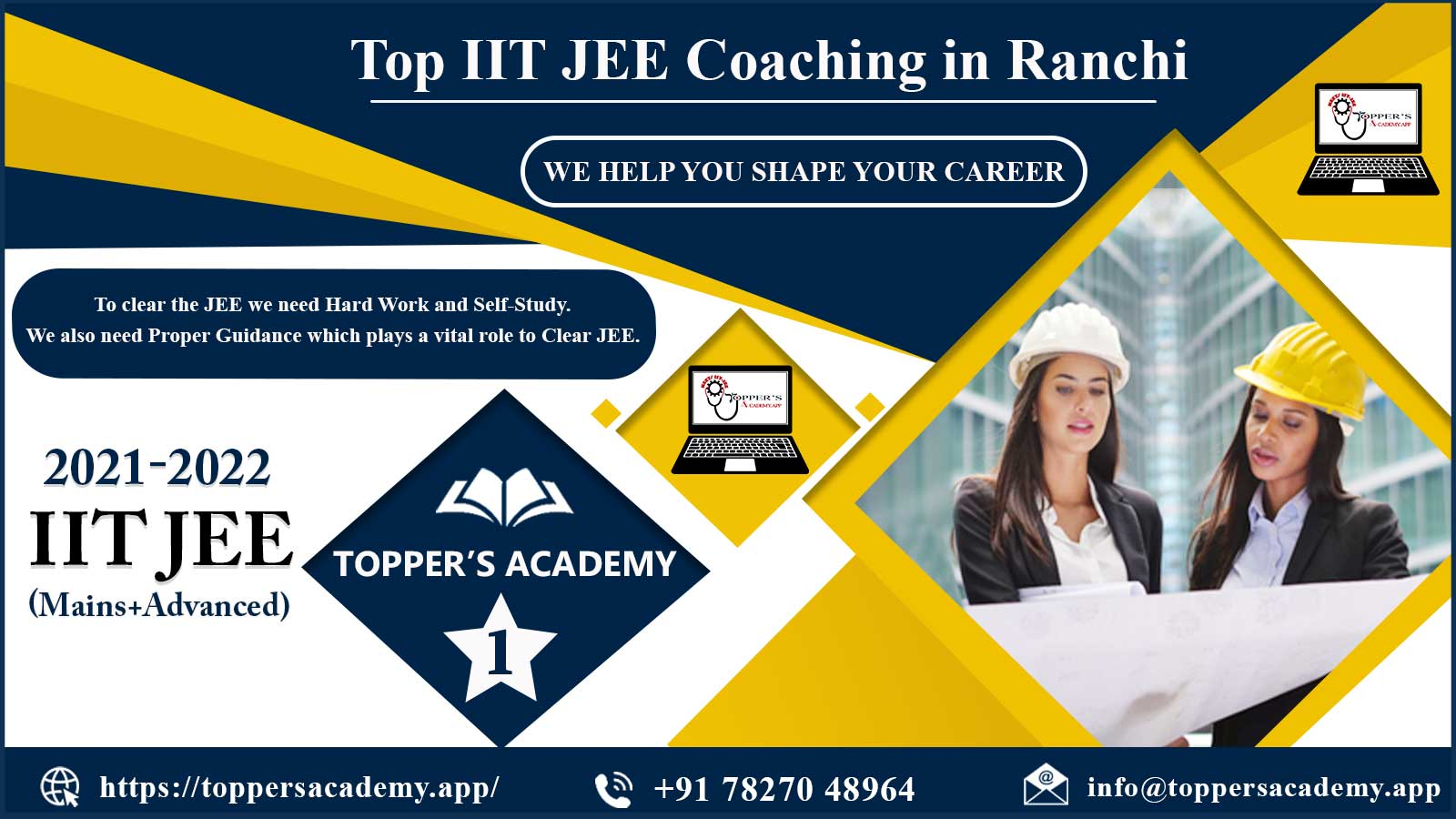 Toppers Academy IIT JEE Coaching in Ranchi