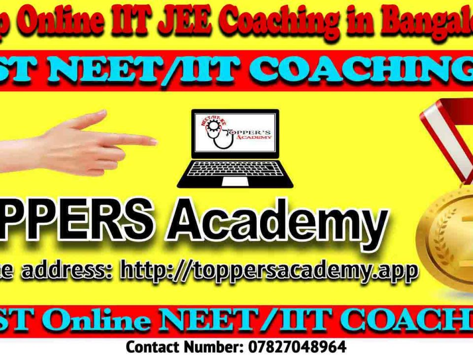 Best Online IIT JEE Coaching in Bangalore
