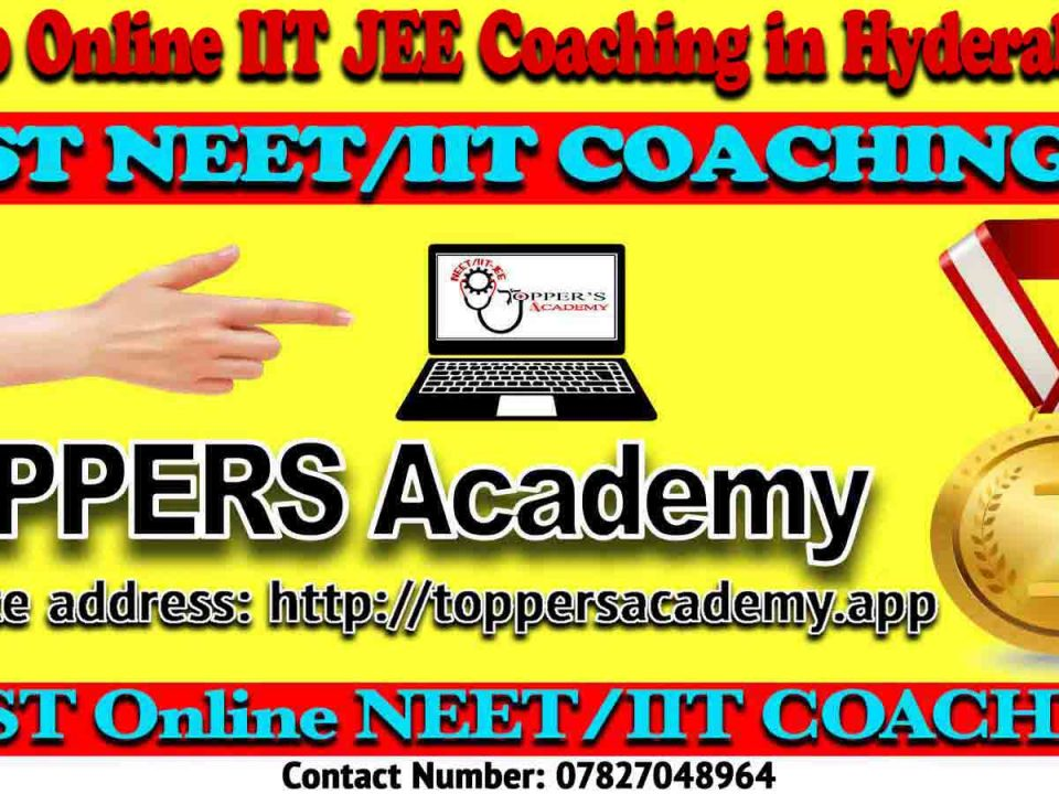 Best Online IIT JEE Coaching in Hyderabad
