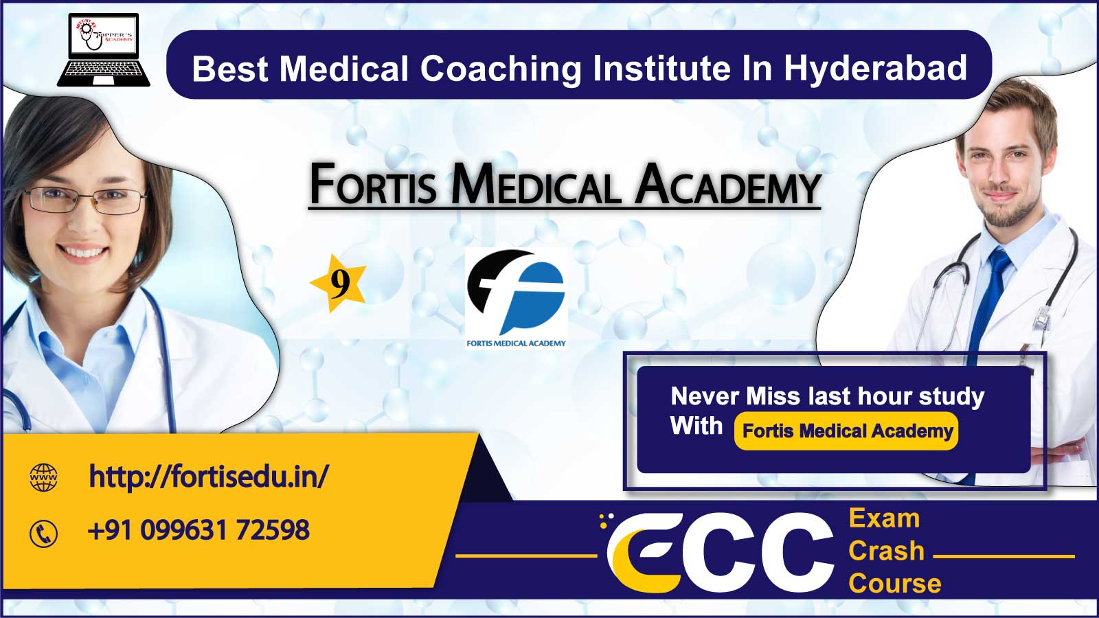Fortis Medical Academy  NEET Coaching in Hyderabad
